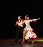 La danse du monde de l'Autriche amour-espagnole émouvante de flamenco-le Photographie stock