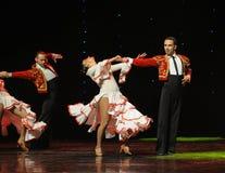 La danse du monde de l'Autriche amour-espagnole émouvante de flamenco-le Images libres de droits