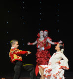 La danse du monde de l'Autriche amour-espagnole émouvante de flamenco-le Photos libres de droits