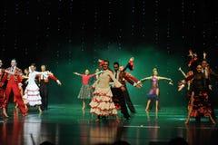 La danse du monde de l'Autriche appel-espagnole de flamenco-le de rideau Photographie stock libre de droits