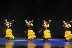 La danse du monde de l'Autriche française de cancan-le Images stock