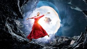 La danse est sa passion image stock