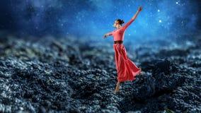 La danse est sa passion photographie stock libre de droits