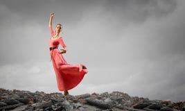 La danse est sa passion photo libre de droits
