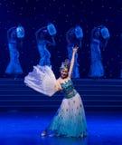 La danse folklorique four-chinoise de Fée-porcelaine de chance Images libres de droits