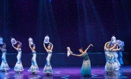 La danse folklorique four-chinoise de Fée-porcelaine de chance Photo stock