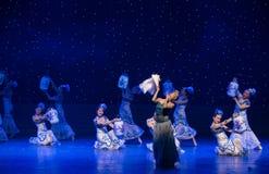 La danse folklorique four-chinoise de Fée-porcelaine de chance Photo libre de droits
