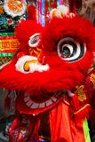 La danza de león se realizó para una celebración lunar del Año Nuevo Fotografía de archivo libre de regalías