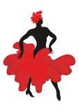 La danza del flamenco stock de ilustración