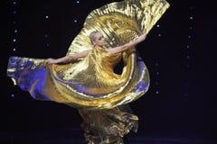 La danza del mundo de Rose-Turquía del vientre de la Austria de oro de la danza- Fotografía de archivo