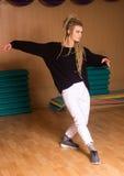 La danza está en actitud del baile Imagen de archivo