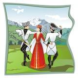 La danza Lezginka Foto de archivo libre de regalías