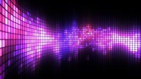 La danza magenta del LED enciende el fondo de la pared stock de ilustración