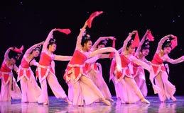 La danza popolare del cittadino del fatato- del fiore della pesca Fotografie Stock