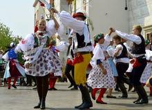 La danza popular Imágenes de archivo libres de regalías