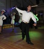 La danza que la diana se realizó por los bailarines, actores del marinero de la compañía del teatro de variedades del estado de S Foto de archivo libre de regalías
