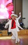 La danza que la diana se realizó por los bailarines, actores del marinero de la compañía del teatro de variedades del estado de S Fotografía de archivo