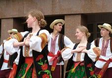 La danza ucraniana Fotografía de archivo libre de regalías