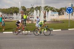 La de ciclo español Vuelta del viaje Imagen de archivo
