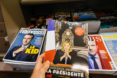 La de compra Presidente Marine Le Pen del Pov Imagenes de archivo