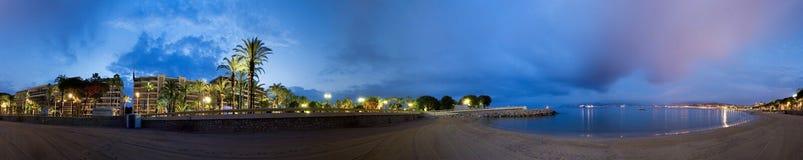 La de croisette de Cannes de plage Image stock