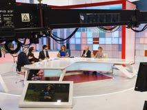 La 1 de del mañana del La de la show televisivo Imagen de archivo