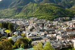 La de l'Andorre Vella - Andorre photo libre de droits