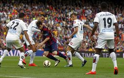 La de Lionel Messi FC Barcelone v Corogne Liga - Espagne Image libre de droits