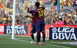 La de Lionel Messi FC Barcelone v Corogne Liga - Espagne Photo stock