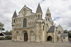 La de Notre Dame grande, Poitiers Images libres de droits