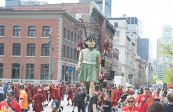 La de Tengere Verjaardag van Géante - van Montreal ` s 375th Royalty-vrije Stock Fotografie