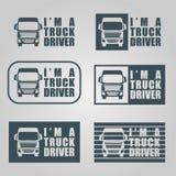 La decalcomania dell'autista di camion Immagine Stock Libera da Diritti