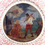 La decapitación del santo Catherine de Alexandría Fotografía de archivo libre de regalías