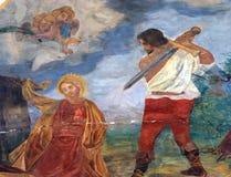 La decapitazione del san Catherine di Alessandria d'Egitto Fotografia Stock Libera da Diritti