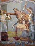 La decapitazione di San Giovanni Battista illustrazione vettoriale