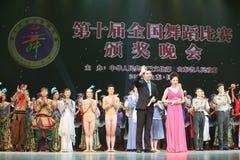 La decima concorrenza di ballo di festival di arte della Cina Fotografie Stock