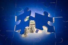 La decisión de problemas financieros. Imagen de archivo