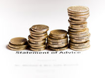 La declaración de aconseja concepto cada vez mayor de la abundancia Foto de archivo libre de regalías
