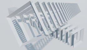 La decoración abstracta, modelo del bastidor cuadrado se opone El minimalist del fondo rinde imagen ilustración del vector