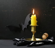La decoración de la composición para Halloween Fotografía de archivo