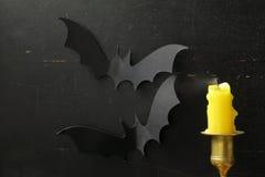 La decoración de la composición para Halloween Imagen de archivo libre de regalías