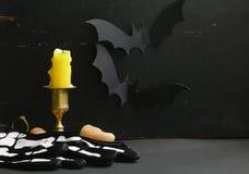 La decoración de la composición para Halloween Imágenes de archivo libres de regalías