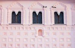 La decoración de la fachada de la iglesia de St John el Evang Imagenes de archivo