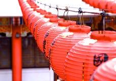 La decoración de la linterna roja Foto de archivo libre de regalías
