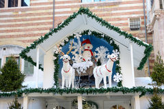 La decoración de la Navidad en la ciudad de Verona Fotos de archivo libres de regalías
