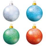 La decoración de la Navidad, fijó bolas Foto de archivo
