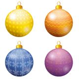 La decoración de la Navidad, fijó bolas Fotografía de archivo libre de regalías