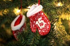 La decoración de la Navidad 2015 y del Año Nuevo juega estilo del vintage Fotografía de archivo