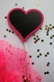 La decoración de la tarjeta del día de San Valentín Fotos de archivo libres de regalías