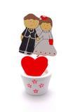 La decoración de los pares de la boda Fotografía de archivo